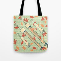 fall Tote Bags featuring fall by freshinkstain