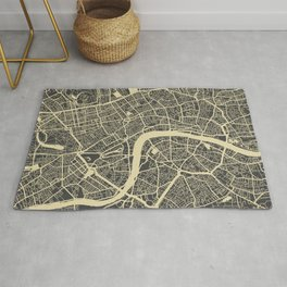 London map yellow Rug
