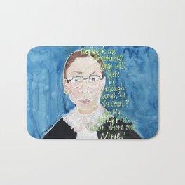 Ruth Bader Ginsberg Bath Mat