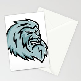 Yeti Head Mascot Stationery Cards