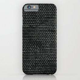Black Burlap texture  iPhone Case