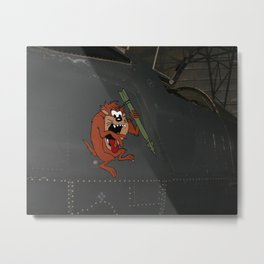 Taz Plane Art Metal Print
