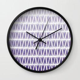 Tee Pee Gradient Ultra Violet Wall Clock