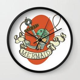 Reverse Mermaid Wall Clock
