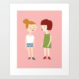 """Are We Even Really Sisters?"" Art Print Art Print"
