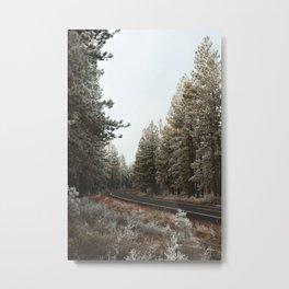 Wisp around the Trees Metal Print