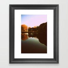 trees reflections Framed Art Print