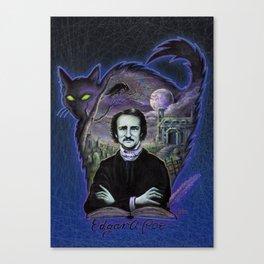 Edgar Allan Poe Gothic Canvas Print