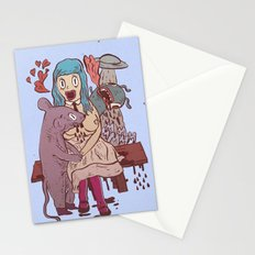Let's get friendly, stranger Stationery Cards