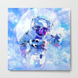 ASTRONAUT:  ALMOST HOME Metal Print