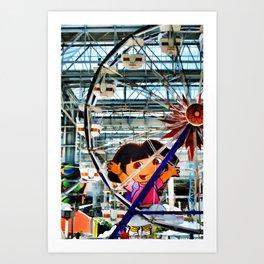 El Circulo de Cielo Ferris Wheel Art Print