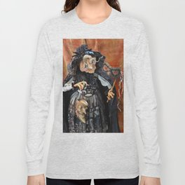 Rucus Studio Late to the Party - Pumpkin Lady Long Sleeve T-shirt