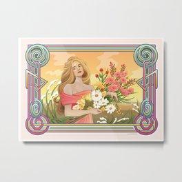 Spring Nouveau Metal Print