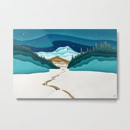 Mt. Hood from the base of Heather Canyon Metal Print