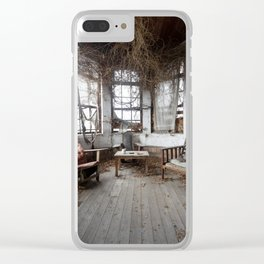 Nature takeover. Abandoned manor. Clear iPhone Case