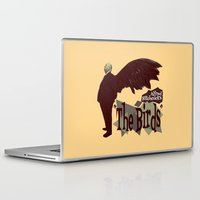 hitchcock Laptop & iPad Skins featuring Alfred Hitchcock  |  The Birds by Silvio Ledbetter