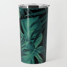 Tropical Jungle Night Leaves Pattern #1 #tropical #decor #art #society6 Travel Mug