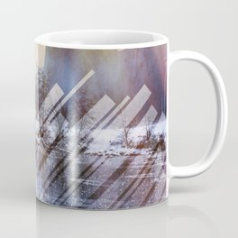 Winter Sun Rays Abstract Nature Coffee Mug