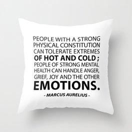 MARCUS AURELIUS - MOTIVATIONAL QUOTES Throw Pillow