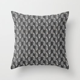 Cubicles Pattern Throw Pillow