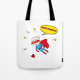 Flying Super Grandma Tote Bag