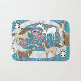 All the Pretty Horses Bath Mat