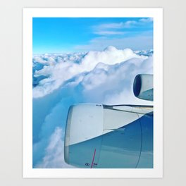 Lufthansa Flight from Munich to LAX, November 2017 Art Print