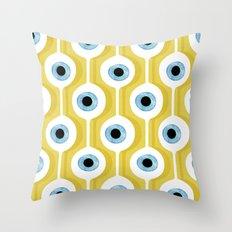 Eye Pod Yellow Throw Pillow