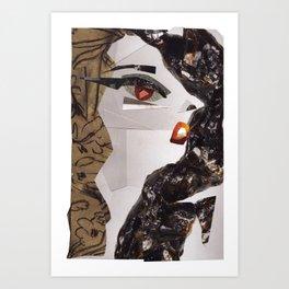Lady Ga Ga #PrideMonth Collage Portrait Art Print