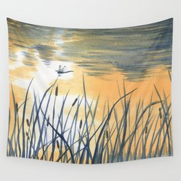 Dawn on the pond Wall Tapestry