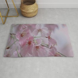 Delicate Pink Blossoms Rug