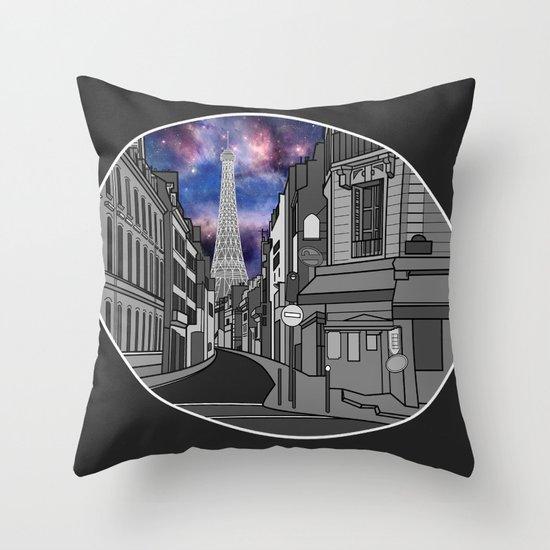 Paris: The Center of the Universe Throw Pillow