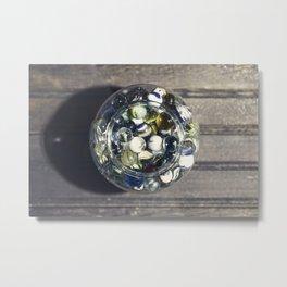 Vintage Glass Marbles 15 Metal Print