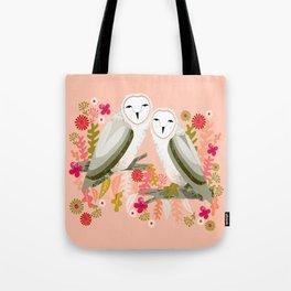 Owl Always Love You - Valentines Barn Owls, owl, owls, cute, animals, birds, andrea lauren Tote Bag