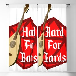 Hard For Bards - Dungeons & Dragons Blackout Curtain