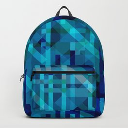 abstract composition in blues Backpack