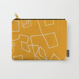 Gold and White Carry-All Pouch