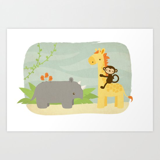 Safari Art Print
