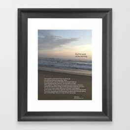 the first quiet of the morning Framed Art Print