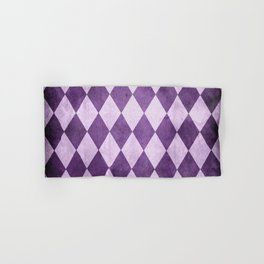 Grape Harlequin Grunge Hand & Bath Towel
