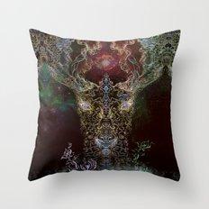 Medicina Cosmic Shoko - Light DeerTree Throw Pillow