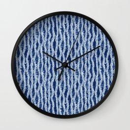 Shibori Eight Wall Clock