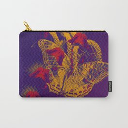Red radioactive butterflies in glowing landscape Carry-All Pouch