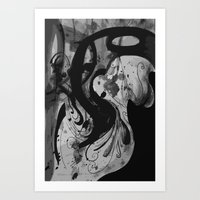 reassurance Art Prints featuring Ink by Magdalena Hristova