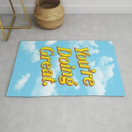 You're Doing Great: Sky Edition Rug
