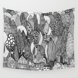 Mysterious Village Wall Tapestry