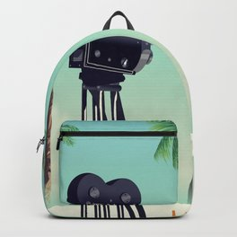 Hollywood Travel poster Backpack