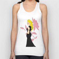 mom Tank Tops featuring Mom by LizDrawsss