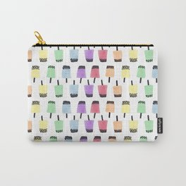 Rainbow Watercolor Bubble Tea Carry-All Pouch