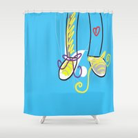 feet Shower Curtains featuring Feet love by andy_panda_